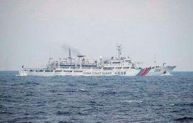 青森県沖で航行が確認された中国海警局の船=17日(第2管区海上保安本部提供)