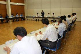 保健相会合に向け、県内の港湾関係者を対象に開かれたテロ対策会議