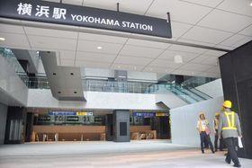 21日早朝から通れるようになる横浜駅西口のアトリウム通路