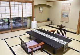 「グランディア芳泉」の宿泊キャンペーンで利用できる客室=3月、福井県あわら市
