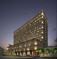 嘉新琉球開発が旧国映館跡地に建設を進めている新ホテル「ホテルコレクティブ」の外観(同社提供)