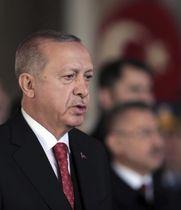 トルコのエルドアン大統領=10日、アンカラ(AP=共同)