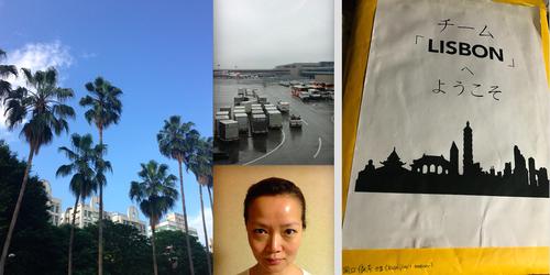 台北、雨の成田空港、撮影用写真、封筒の中身は旅のしおりと大事な脚本