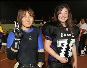 米女子プロリーグで活躍を続けるベティ鈴木(右)と小倉典子