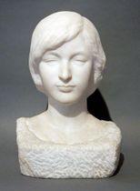 呉市に寄贈された舟越保武の彫刻「R嬢」(呉市立美術館提供)