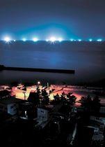 <里浜写景>イカを誘う水平線の星くず