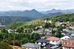 標高約200~340メートルに広がる「生野高原住宅」=神戸市北区道場町生野