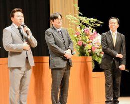 健康維持について語る(左から)舞の海、永田、曽根の各氏