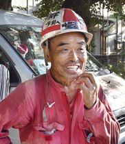 藤本理稀ちゃんの退院を受け、取材に応じる尾畠春夫さん=20日午後、広島県呉市