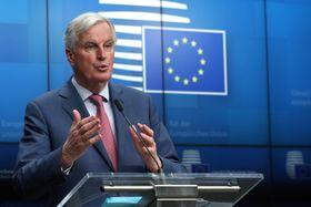 欧州連合の対英交渉責任者を務めるバルニエ首席交渉官=19日、ブリュッセル(ロイター=共同)