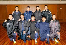 初の大舞台で8強入りを誓う泉川の男子メンバー