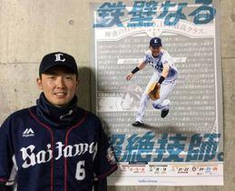 選手日程ポスターに登場する源田