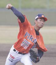 【愛媛MP―香川】8回2失点で2勝目を飾った愛媛MP・先発西原大=伊予市しおさい公園野球場