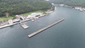 釣り振興モデル港への応募を目指す青方港=新上五島町(県提供)