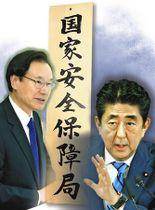 安倍晋三首相(右)と国家安全保障局の谷内正太郎局長(コラージュ)
