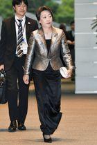 皇居での認証式を終え首相官邸に入る橋本聖子五輪相兼女性活躍相=11日午後