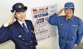 説明会への来場を呼び掛ける工藤さん(左)と羽金さん
