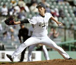 DeNA戦に先発したオリックス・田嶋投手=ほっともっと神戸