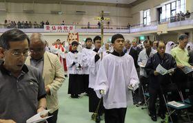 キリシタン弾圧による殉教者の遺徳をたたえた雲仙殉教祭=雲仙市小浜町、雲仙メモリアルホール