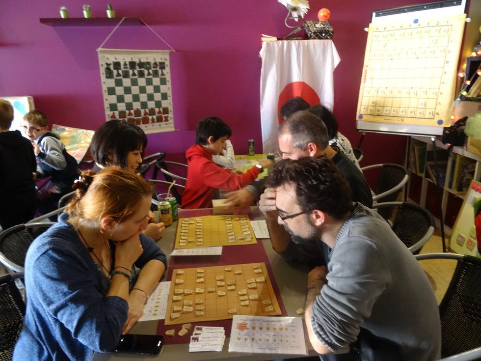 チェスクラブでの交流会