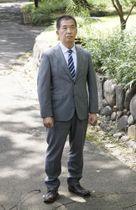 東京高裁判事の岡口基一さん=9月5日、東京都千代田区の日比谷公園