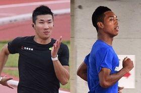 男子100メートルで「9秒台対決」が注目される桐生(左)とサニブラウン