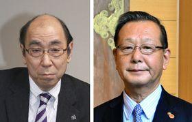徳川康久氏(左)と小堀邦夫氏