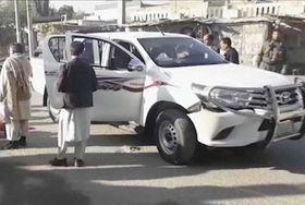 4日、アフガニスタン東部ジャララバードで銃撃され、死亡した中村哲医師らが乗っていた車=AP・共同