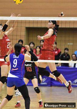 バレー 大野(三沢出身)「うれしい」 故郷での試合、中学以来