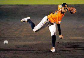 【愛媛MP―徳島】9回5失点で負け投手となった愛媛MPの先発長島=東予球場