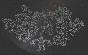 7月から始まる新プログラム「もりのやきゅうちーむふぁいたーず ほしのせかいへ」のイメージ画像(札幌市青少年科学館提供)