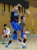 バドミントン男子D、広木・平田組が頂点 県新人スポーツ