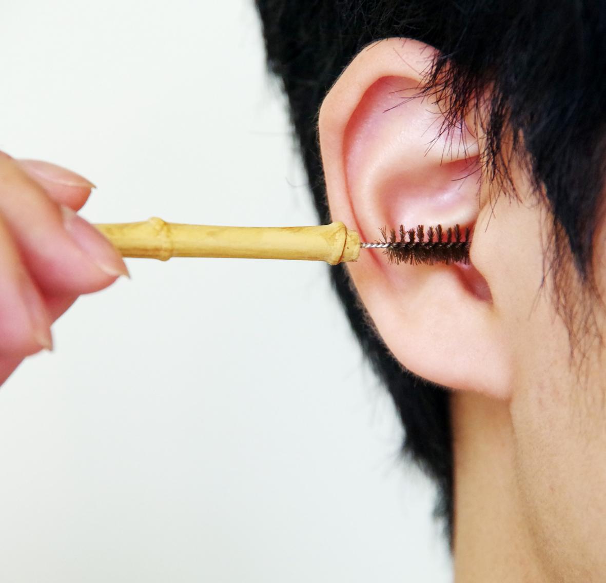 たわし素材の耳かき