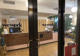 米ウィーワークのオフィス=10月、ワシントン(共同)