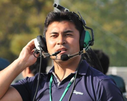 京大を率いて2年目の西村監督=写真提供:京都大学ギャングスターズ、2012年