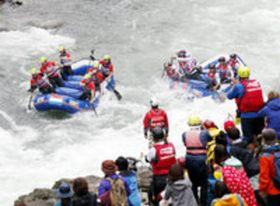 ラフティング 世界選手権 徳島・吉野川上流で競技開始
