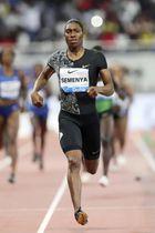 5月、陸上ダイヤモンドリーグの女子800メートルで優勝したキャスター・セメンヤ=ドーハ(AP=共同)