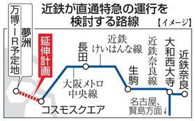 近鉄が直通特急の運行を検討する路線