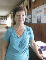 日本兵のシベリア抑留を知る住民に、聞き取りを行った歴史家のガリーナ・ワシリワさん=8月、ロシア極東アムール州のラズドリノエ村