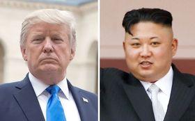 トランプ米大統領、北朝鮮の金正恩朝鮮労働党委員長(いずれもロイター=共同)