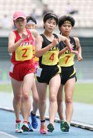 総体 全九州大会 渡辺夕奈(清和)女子5000競歩、今村莉花(鹿島)女子400でV