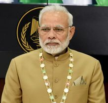 インドのモディ首相(UPI=共同)