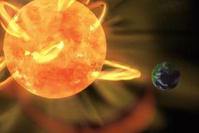 恒星(左)と生命が存在する可能性がある惑星の想像図(京都大提供)