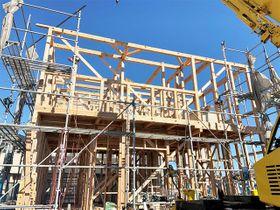 構造材などに県産材を用いる