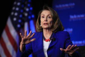 民主党のナンシー・ペロシ下院議長=8日、ワシントン(AP=共同)