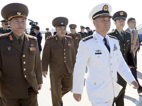 中国軍高官が訪朝