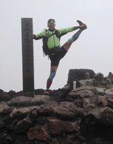 富士山に登頂した田中陽希さん=22日