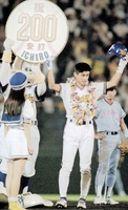 1994年9月、プロ野球史上初のシーズン200安打を達成したオリックスのイチロー