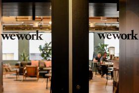 米ウィーワークのオフィス=9月30日、サンフランシスコ(ロイター=共同)