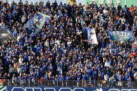 観客最多記録のガンバ大阪戦=2014年12月
